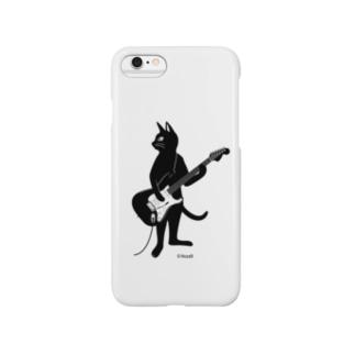 ギターを弾くネコ(SPケース) Smartphone cases