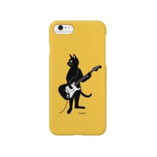 ギターを弾くネコ (Y) Smartphone cases