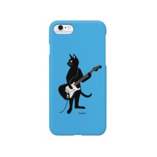 ギターを弾くネコ (B) Smartphone cases