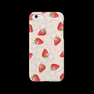 *momochy shop*のいちご柄(6,6Plus対応) Smartphone cases