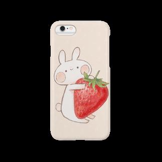 *momochy shop*のいちごうさぎ(6,6Plus対応) スマートフォンケース