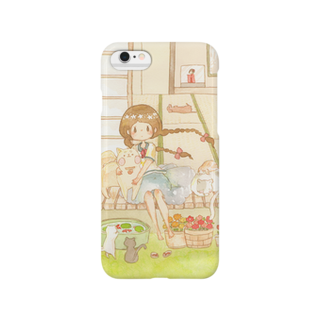 *momochy shop*のなつのえんがわ Smartphone cases