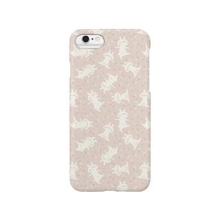 おはなとうさぎ(ピンク) Smartphone cases
