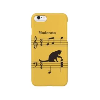 ネコ、音符にイタズラver.2 (Y) Smartphone cases