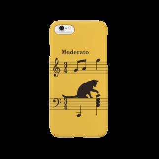 SHOP KazzBのネコ、音符にイタズラver.2 (Y) Smartphone cases
