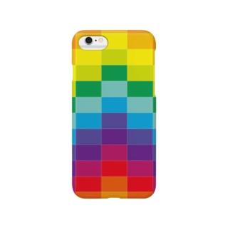 カラフルブロック Smartphone cases