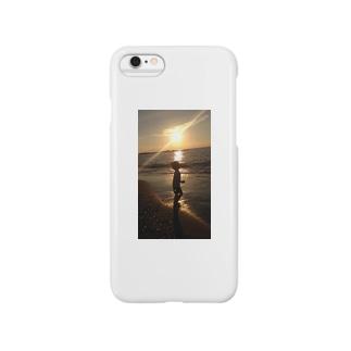 夕陽と少女 Smartphone cases