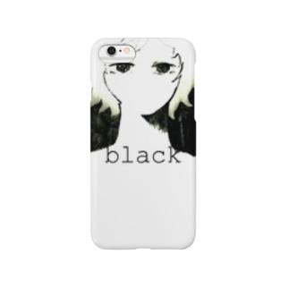 暗く見つめる少女 Smartphone cases