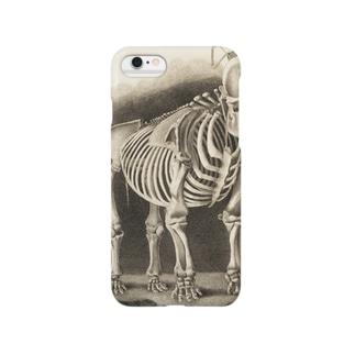 銅版画による人体骸骨 Smartphone cases