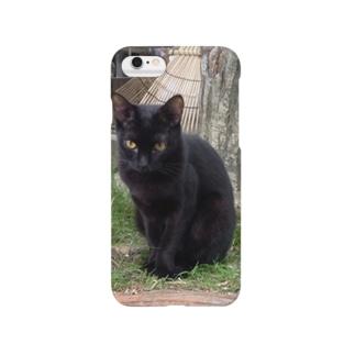 黒にゃん Smartphone cases