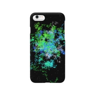 レオナのPastel Galaxy(Green and Blue) Smartphone cases