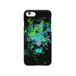 Pastel Galaxy(Green and Blue) スマートフォンケース