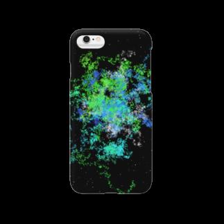 レオナのPastel Galaxy(Green and Blue) Smartphone cases