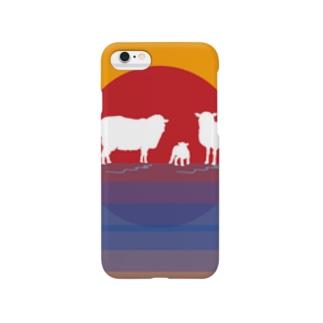 羊一家の日の出一番 Smartphone cases