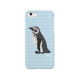 This is Mine(ディスイズマイン)のボーダーペンギン:ブルー Smartphone cases