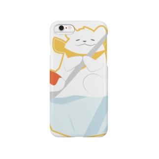 かき氷のシロクマ Smartphone cases