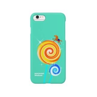 ペロキャンステークス(ミント) Smartphone cases