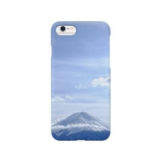 冬の寒空風、冨士山 Smartphone cases