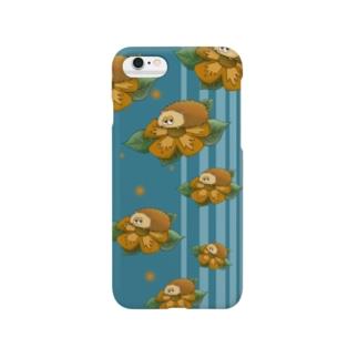 花とハリネズミ Smartphone cases