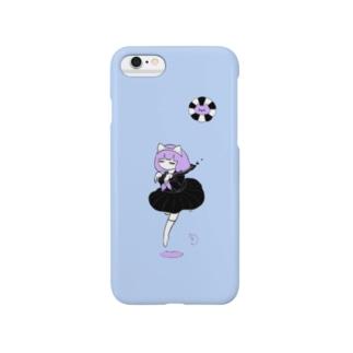 ねこおばけの女の子 Smartphone cases