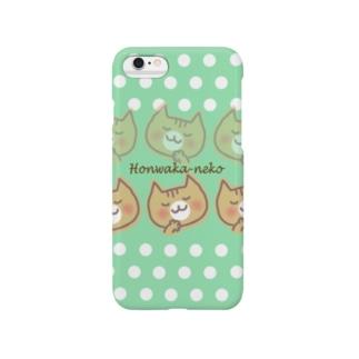 ほんわかネコ(green) Smartphone cases