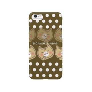 ほんわかネコ(brown) Smartphone cases