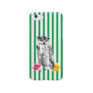 フクロウ【NAYO-SMP-OWL02】 Smartphone cases