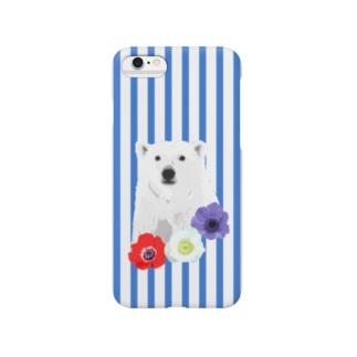 シロクマ【NAYO-SMP-WHITEB01】 Smartphone cases