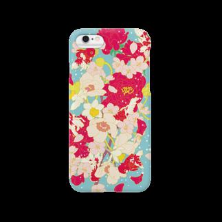 井上のきあの花金魚 Smartphone cases