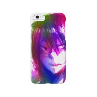 赤紫グラデーション Smartphone cases