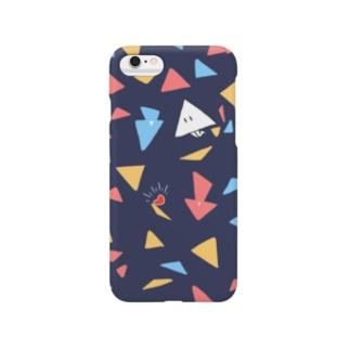 とびちる サンカク とびだす サンカク Smartphone cases