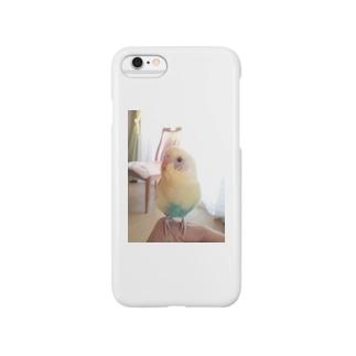 セキセイインコ 夏樹くん (写真のみ) Smartphone cases