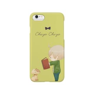 ねことぼく Yellow Smartphone cases