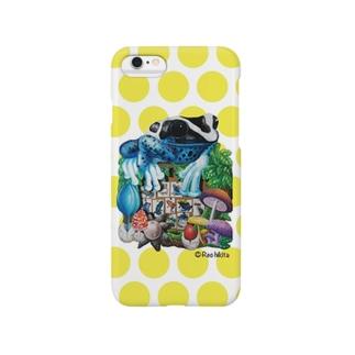 カエルいた!(黄色ドット)iPhone6/6 Plus用 Smartphone cases