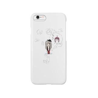 うりゅろいどとにゃっくまのかげ(4コマ漫画ぽにーとうりゅろいど) Smartphone cases