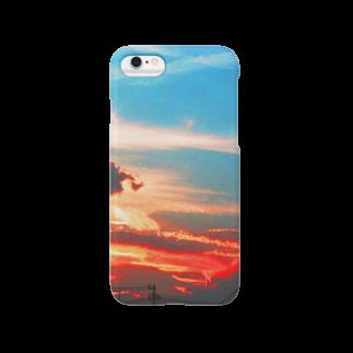オルカの夕焼け空 Smartphone cases