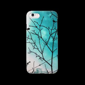 オルカの水色と空と枝 Smartphone cases