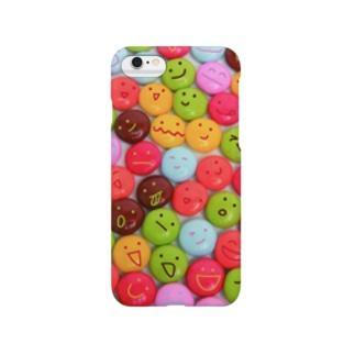 かおかし・マーブルチョコ Smartphone cases