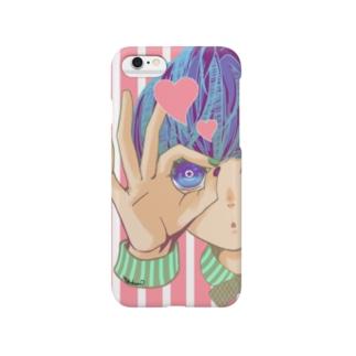 のぞいてみる?(ピンク) Smartphone cases