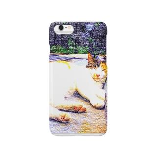 おネムな三毛猫 Smartphone cases