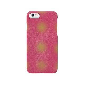 水玉ピンク Smartphone cases