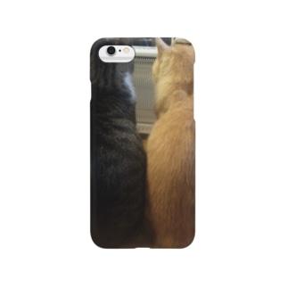 猫、身を寄せ合える幸せ。 Smartphone cases