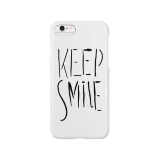 KEEP SMILE スマートフォンケース