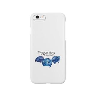 カエルメイト(Frog-mates)より「ブルベリガエル」のグッズ Smartphone cases