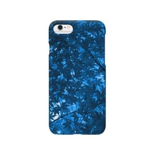 青い紅葉 Smartphone cases