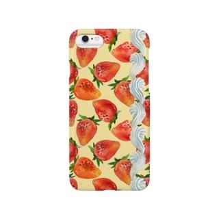 いちごクリーム(黄) Smartphone cases