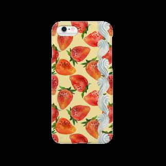 緑谷たまのいちごクリーム(黄) Smartphone cases