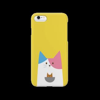 yumegiwa*の下からニュッとニャンガルー Smartphone cases