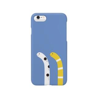 下からニョッとチンアナゴ(夜バージョン) Smartphone cases
