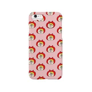 かぶりものくん(ピンク) Smartphone cases